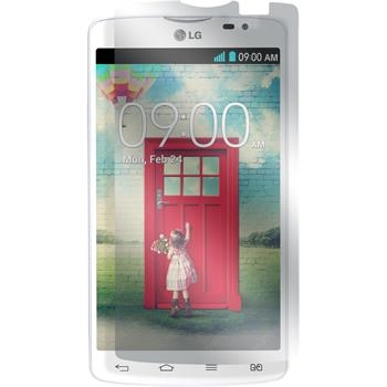 2 x LG L80 Dual Protection Film Clear