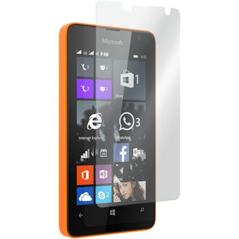 2 x Microsoft Lumia 430 Dual Glas-Displayschutzfolie klar