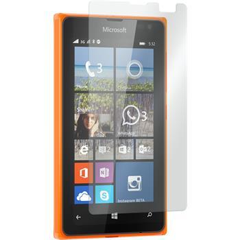 2x Lumia 532 klar Glasfolie