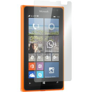 2 x Microsoft Lumia 532 Protection Film Tempered Glass Clear