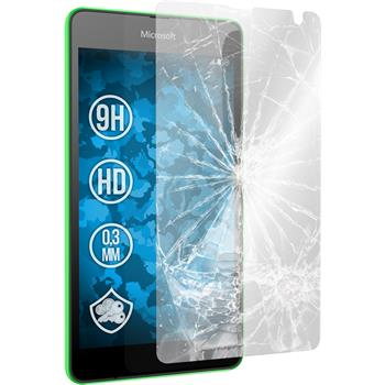 2x Lumia 535 klar Glasfolie