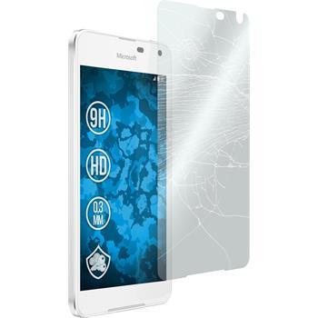 2x Lumia 650 klar Glasfolie