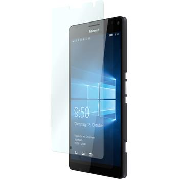 2 x Microsoft Lumia 950 XL Protection Film Tempered Glass clear
