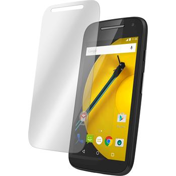 2 x Motorola Moto E 2015 2. Generation Protection Film Tempered Glass Clear