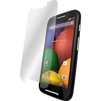 2 x Motorola Moto E Protection Film Tempered Glass Clear