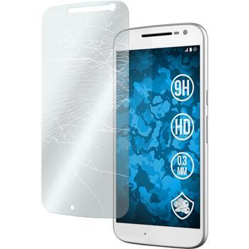 2 x Motorola Moto G4 Glas-Displayschutzfolie klar