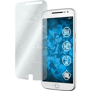 2x Moto G4 Plus klar Glasfolie
