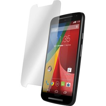 2 x Motorola Moto G 2014 2. Generation Protection Film Tempered Glass Clear