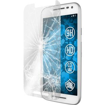 2 x Motorola Moto G 2015 3. Generation Protection Film Tempered Glass clear