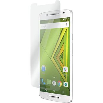 2 x Motorola Moto X Play Protection Film Tempered Glass clear