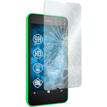 2x Nokia Lumia 630 klar Glasfolie