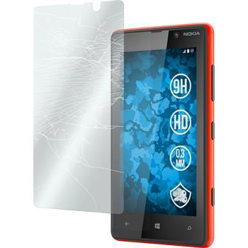 2x Nokia Lumia 820 klar Glasfolie