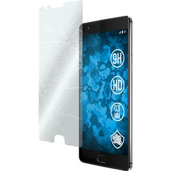 2 x OnePlus OnePlus 3 Protection Film Tempered Glass clear