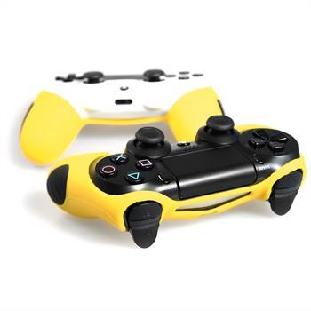 2 x PhoneNatic Controller-Hülle Gelb für das PlayStation 4 Gamepad