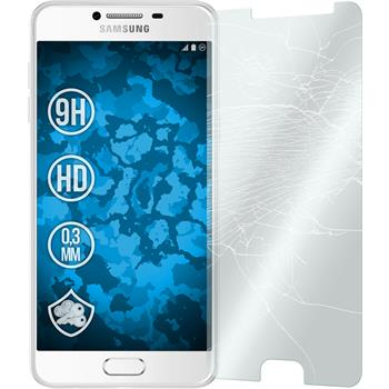 2x Galaxy C5 klar Glasfolie