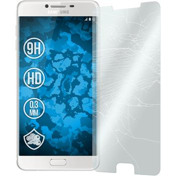 2x Galaxy C7 klar Glasfolie