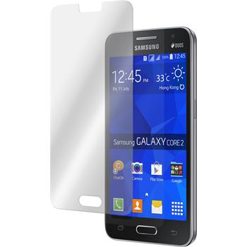 2x Galaxy Core 2 klar Glasfolie
