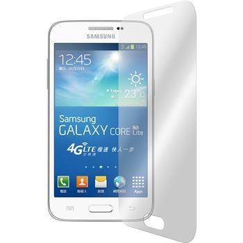 2x Galaxy Core Lite klar Glasfolie