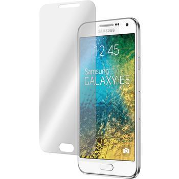 2x Galaxy E5 klar Glasfolie
