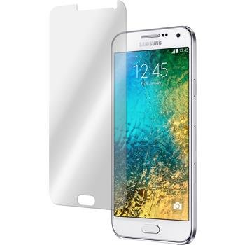2 x Samsung Galaxy E7 Protection Film Tempered Glass Clear