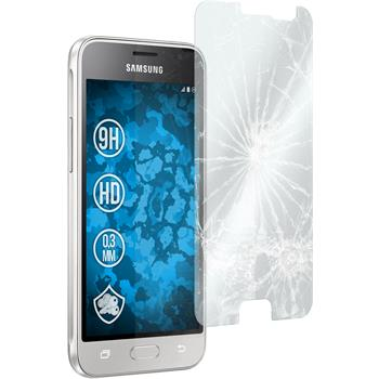2 x Samsung Galaxy J1 (2016) Protection Film Tempered Glass clear