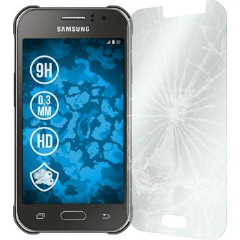 2x Galaxy J1 ACE klar Glasfolie