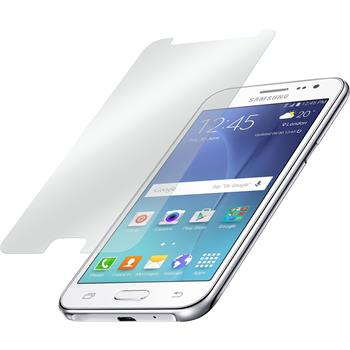 2x Galaxy J2 klar Glasfolie