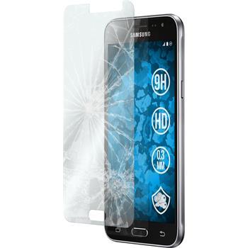 2x Galaxy J3 klar Glasfolie
