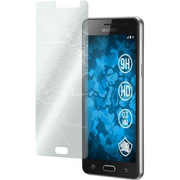 2x Galaxy J3 Pro klar Glasfolie