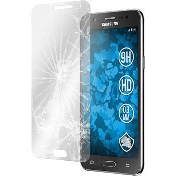 2x Galaxy J5 (J500) klar Glasfolie