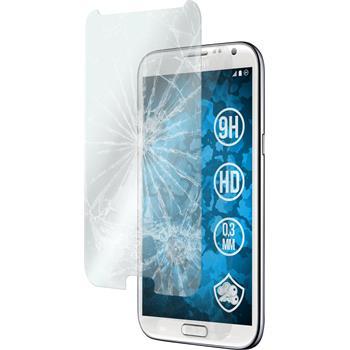 2x Galaxy Note 2 klar Glasfolie