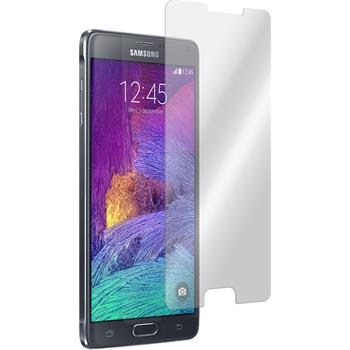 2x Galaxy Note 4 klar Glasfolie