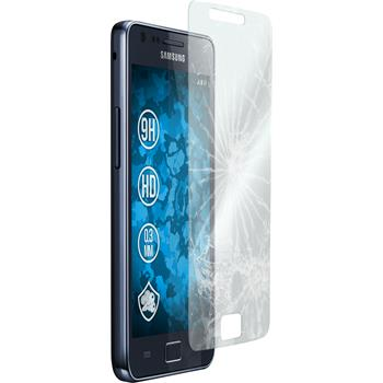 2x Galaxy S2 klar Glasfolie