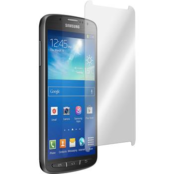 2x Galaxy S4 Active klar Glasfolie