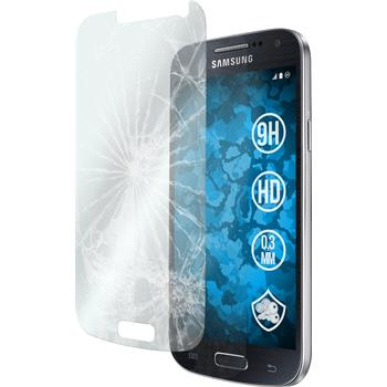 2x Galaxy S4 Mini klar Glasfolie