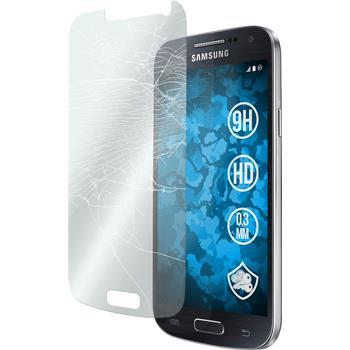 2x Galaxy S4 Mini Plus I9195 klar Glasfolie