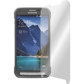 2 x Samsung Galaxy S5 Active Protection Film Tempered Glass Clear