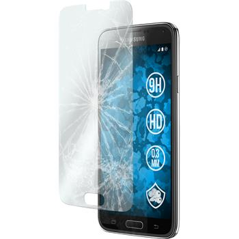 2x Galaxy S5 klar Glasfolie