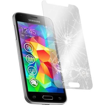 2x Galaxy S5 mini klar Glasfolie