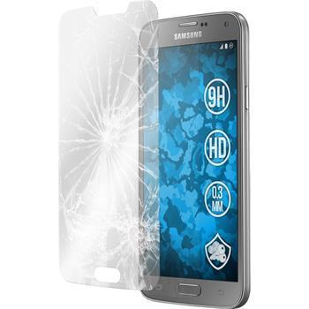 2x Galaxy S5 Neo klar Glasfolie
