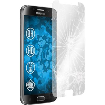 2x Galaxy S6 klar Glasfolie