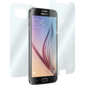 2 x Samsung Galaxy S6 Protection Film Tempered Glass Fullbody clear