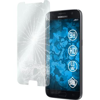 2x Galaxy S7 klar Glasfolie