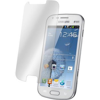 2x Galaxy S Duos klar Glasfolie
