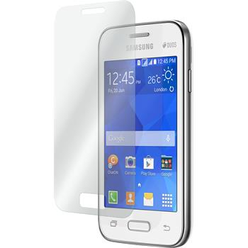 2 x Samsung Galaxy Young 2 Protection Film Tempered Glass clear
