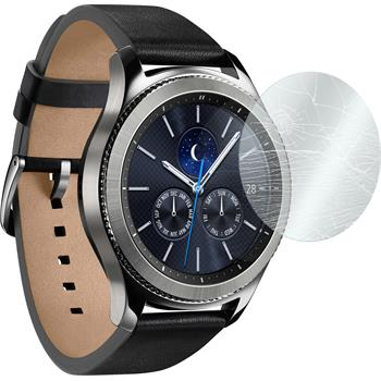 2 x Samsung Gear S3 Classic/Frontier Protection Film Tempered Glass clear