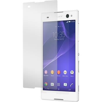 2 x Sony Xperia C3 Protection Film Tempered Glass Clear