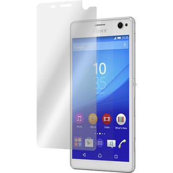 2 x Sony Xperia C4 / Dual Displayschutzfolie klar