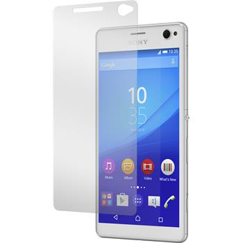 2 x Sony Xperia C4 / Dual Protection Film Tempered Glass Clear