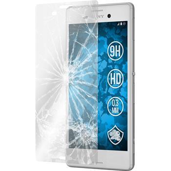 2 x Sony Xperia M4 Aqua Glas-Displayschutzfolie klar